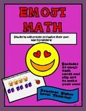 Emoji Math - Creating Word Problems Task Cards 0r Powerpoint