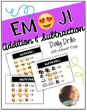 Emoji Math Drills: Addition & Subtraction
