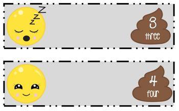 Emoji Math File Folder Game