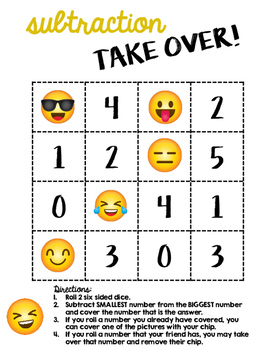 Emoji Math Games - Addition and Subtraction TAKE OVER!