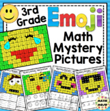 Emoji Math Mystery Pictures: 3rd Grade Math Skills