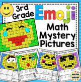 3rd Grade Emoji Math Mystery Pictures: 3rd Grade Math Skills