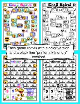 4th Grade Emoji Math Games and Centers