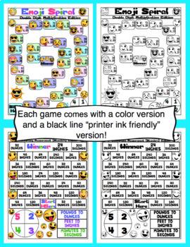 4th Grade Emoji Math Games and Centers
