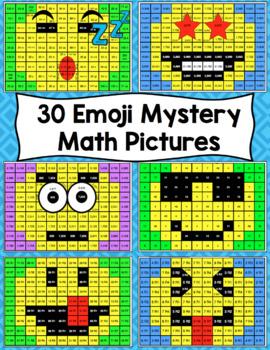 Emoji Math Mystery Pictures 5th Grade Math Skills By Math