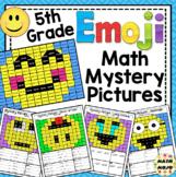 Emoji Math Mystery Pictures: 5th Grade Math Skills