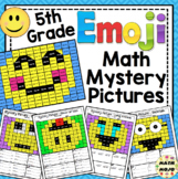 5th Grade Emoji Math Mystery Pictures: 5th Grade Math Skills