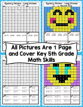 5th Grade Emoji Math Mystery Pictures: 5th Grade Math Skills