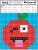 Emoji Back to School Math Mystery Pictures | All Operations