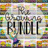 Emoji Math Mystery Pictures Growing Bundle   Math Color by Number Bundle
