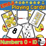 Emoji Math Stations: Playing Cards! (Numbers 0 - 10)