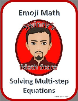 Emoji Math: Solving Multi-Step Equations
