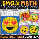 Emoji Model Equivalent Fractions Mystery Pictures | Fractions Color by Number