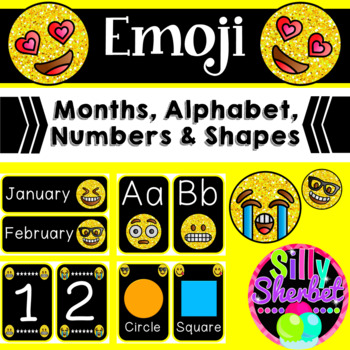 Emoji Months, Alphabet, Numbers and Shapes