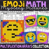 Emoji Multiplication Arrays Mystery Picture   Multiplication Coloring Worksheets