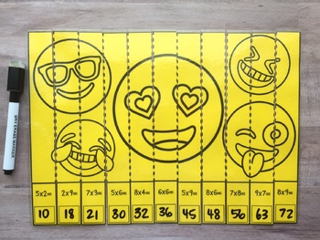 Emoji Multiplication & Division Math Puzzles