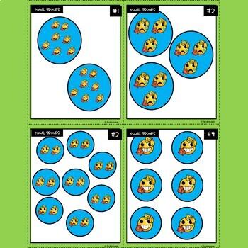 Emoji Multiplication Equal Groups Task Cards