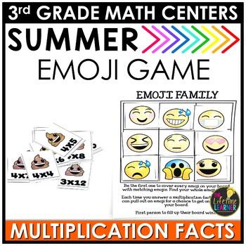 Emoji Multiplication Facts June Math Center