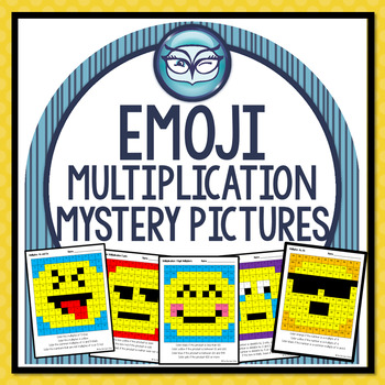 Emoji Multiplication Mystery Pictures