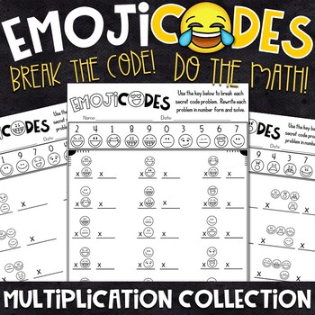 Multiplication Practice | Break the Emoji Code