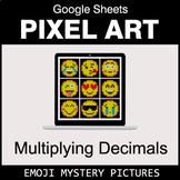 Emoji: Multiplying Decimals - Google Sheets Pixel Art