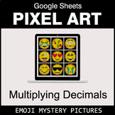 Emoji: Multiplying Decimals - Google Sheets Pixel Art