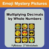 Emoji: Multiplying Decimals by Whole Numbers - Math Myster