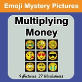 Emoji: Multiplying Money - Math Mystery Pictures / Color B