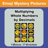 Emoji: Multiplying Whole Numbers by Decimals - Math Myster