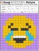 Emoji Multiplying and Dividing Fractions Mystery Pictures