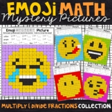 Emoji Multiplying and Dividing Fractions | Fractions Color by Number