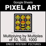 Emoji: Multiplying by Multiples of 10, 100, 1000 - Google Sheets Pixel Art