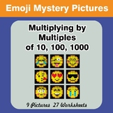 Emoji: Multiplying by Multiples of 10, 100, 1000 - Math My