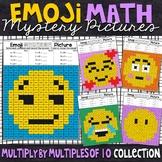 Emoji Multiplying by Multiples of 10 Worksheets