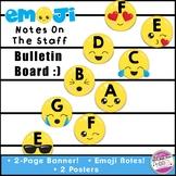 Emoji Music Staff Bulletin Board