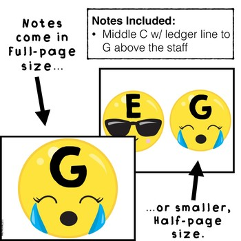 Emoji Music Staff Bulletin Board