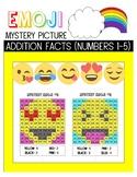 Emoji Mystery Picture- Addition 1-5