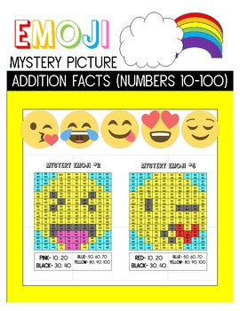 Emoji Mystery Picture- Addition 10-100