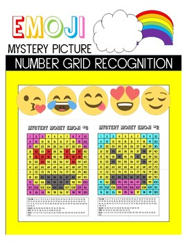 Emoji Mystery Picture- Number Recognition