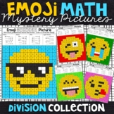 Emoji Division Mystery Pictures | Division Color by Number