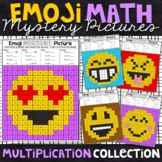 Emoji Multiplication Mystery Pictures | Multiplication Color by Number