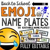 Emoji Classroom Decor: Editable Name Plates