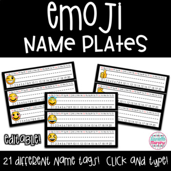 Emoji Name Plates (Tags) Decor EDITABLE
