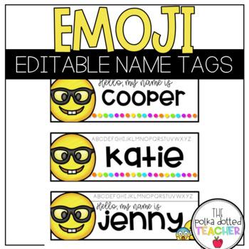 Emoji Name Tags - Editable
