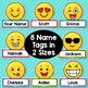 Emoji Theme Classroom Decor Editable Nameplates and Name Tags