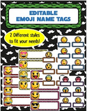 Emoji Name Tags! 2 Different Styles- Editable!!