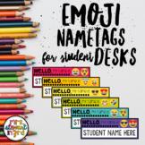 Emoji Nametags for Student Desks