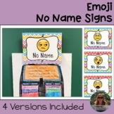 Emoji No Name Signs