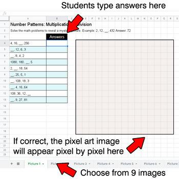 Emoji: Number Patterns: Multiplication & Division - Google Sheets