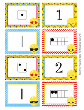 Emoji Numbers 1-10 Match Activity